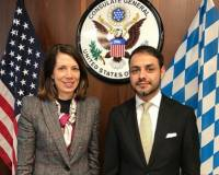 Meeting of Mr. Sifat Rahimee, Consul General of the Islamic Republic of Afghanistan in Munich with Ms. Meghan Gregonis, Consul General of the United States of America in Munich