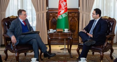 Deputy and Acting Foreign Minister Meets German Ambassador to Kabul