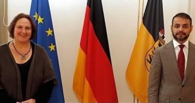 Treffen von Herrn Sifat Rahimee, Generalkonsul der Islamischen Republik Afghanistan in München mit Frau Theresa Schopper, Staatsministerin von Baden Württemberg, Deutschland
